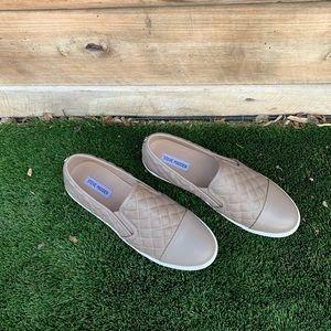 Steve Madden Leather Slip On Sneakers